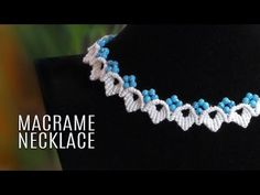 DIY Macrame leaf necklace with beads. You only need to know the Double half hitch knot. See more Macramé jewelry tu. Macrame Jewelry Tutorial, Macrame Bracelet Tutorial, Macrame Necklace, Leaf Necklace, Macrame Bracelets, Diy Necklace, Crochet Necklace, Loom Bracelets, Necklaces