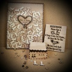 Personalized Framed Guest Book Rustic by RedHeartCreations wedding guest list Personalized Framed Guest Book, Rustic Wedding Guestbook Alternative, Western Wedding Signature Frame, Complete Set, Graduation Guestbook Beach Wedding Guests, Rustic Wedding Guest Book, Wedding Guest List, Wedding Guest Book Alternatives, Wedding Book, Wedding Decor, Wedding Ideas, Fall Wedding, Wedding Souvenir