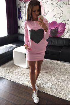 Beat of My Heart Tunic Mini Dress