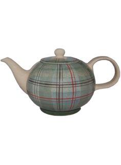 Ruaridh Waugh Teapot plaid Scottish stoneware