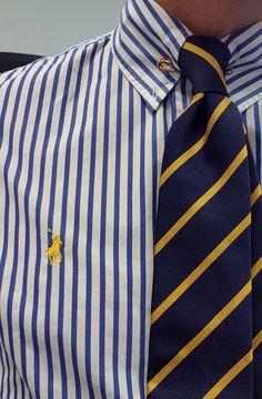 Moda Preppy, Preppy Boys, Preppy Style, Preppy Mens Fashion, Mens Fashion Suits, Men's Fashion, Shirt And Tie Combinations, Dandy Style, Ralph Lauren