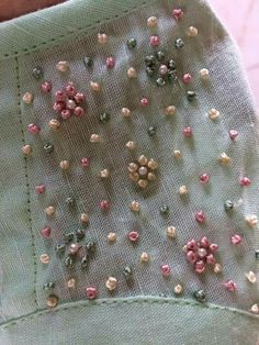 For details mail us at ethereal.kochi@gmail.com       #handcrafted #hand Embroidery  #french knots #pastels