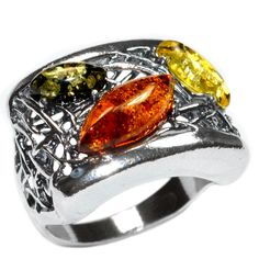 6.8g Authentic Baltic Amber 925 Sterling Silver Ring Jewelry s.8 A7459S8 | eBay