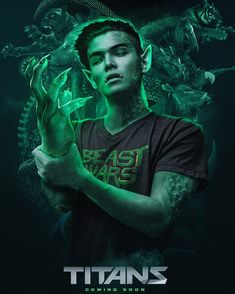 """'Titans' TV series: Ryan Potter cast as Beast Boy in upcoming live-action series. Ryan Potter has been cast as DC Comics superhero Beast Boy in the company's upcoming live-action series, """"Titans. Teen Titans Go, Teen Titans Raven, Teen Titans Cast, Titans Tv Series, Ryan Potter, Raven Beast Boy, Young Justice, Dc Heroes, Nightwing"""