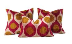 Mustard Ikat Pillow, Red Ikat Pillow, Mustard Ikat Pillow Cover, Red Ikat Decorative Pillow, Mustard Ikat Couch Pillow, mothers day gift