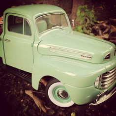 Vintage green ford love.... by It's a miniature life...is playing with clay, via Flickr