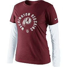 Women's Nike Washington Redskins Coin Toss Long Sleeve Layer T-Shirt - NFLShop.com