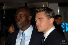 Djimon Hounsou and Leonardo DiCaprio The UK premiere of 'Blood Diamond' held at Odeon Leicester Square - Arrivals