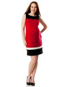 Motherhood Maternity: Sleeveless Colorblock Maternity Dress $34.98