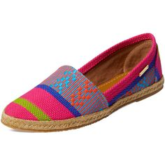 KAANAS Maui Espadrille (65 CAD) ❤ liked on Polyvore featuring shoes, sandals, pink, leather shoes, braided sandals, woven-leather shoes, woven leather sandals and woven sandals