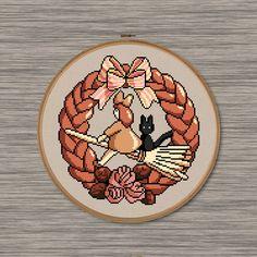 "Kiki's Delivery Service Bread Sign - PDF Cross Stitch Pattern - Inspired by Miyazaki's film, ""Kiki's Delivery Service"""
