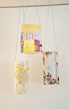 pretty patchy paper lanterns found an easy tutorial...