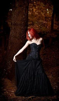 Goth | Gothic | Redhead | Woods