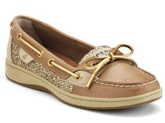 BESTSELLER! Sperry Women`s Angelfish Shoes Linen/Gold Glitter $89.98