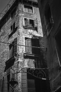 Facade, Venice, Italy, Black And White Signed Art Print