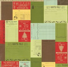 Christmas Receipts 12X12 This & That Christmas Paper by Echo Park Paper Co. - Two Peas in a Bucket