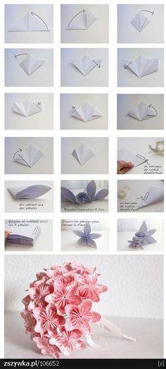 kwiat z papieru