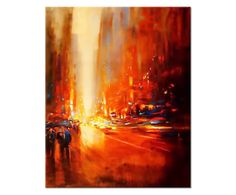 Canvas print Red Cityscape