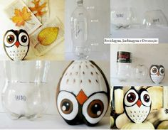 Owl from soda bottle