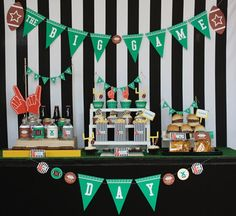 football banquet centerpieces   Football or Super Bowl Party Inspiration @ Wants & Wishes
