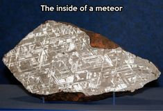 What a meteor looks like on the inside.