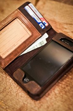Rugged Leather iPhone 4 Wallet by Buffalo Jackson Trading Co