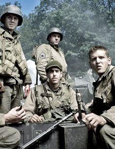 """Saving Private Ryan"" - Giovanni Ribisi, Tom Sizemore, Adam Goldberg  Barry Pepper. 1998, Steven Spielberg, dir."