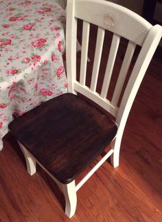 Raised stencil and stained seat