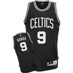 3aba3ae64  celtics adidas Celtics Swingman Rajon Rondo Fashion Jersey  Black White  Celtics  Apparel