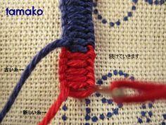 糸の替え方5 Hungarian Embroidery, Silk Ribbon, Friendship Bracelets, Knots, Weaving, Hungary, Needlework, Stitching, Handmade