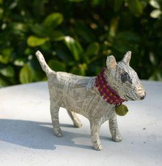 Papier Maché Bull Terrier Braid Collar and by TheTerriersClub