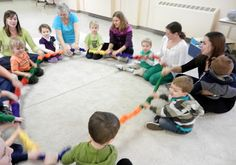 Educational Songs Using a Stretchy Band by Miss Carole from Macaroni Soup at PreK + K Sharing