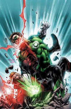 RED LANTERNS #24 (Hal Jordan vs Guy Gardner) - Cover by Stephen Segovia, Art by Alessandro Vitti