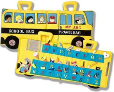School Bus ABC Soft Cloth Travel Toy - Fabric Alphabet Playset - Discontinued
