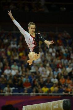 Kristina Vaculik on beam at the 2012 Olympics