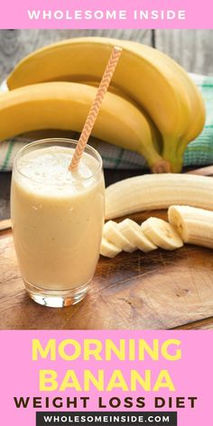 Are you struggling to lose weight? Do you want a diet with no restrictions?😩Then the Morning Banana diet is for you.🍌 CLICK THE LINK 👉 to see the benefits of this diet 🎉 Pineapple Banana Smoothie, Banana Drinks, Milk Shakes, Weight Loss Smoothies, Healthy Smoothies, Breakfast Smoothies, Banana Breakfast, Juice For Skin, Banana Benefits