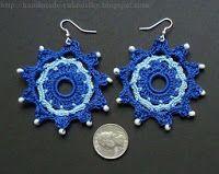 Crocheted Earrings - Free Pattern