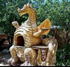 Awesome dragon bbq / cob oven!
