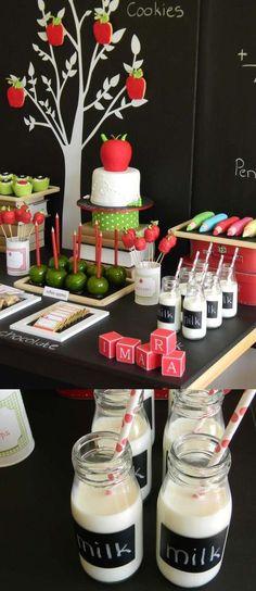Einschulung - Candy Buffet & Dekoration // #Einschulung #Schulanfang #Partydekoration