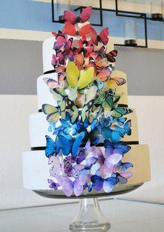 foodie heaven EDIBLE Butterflies for Cakes  Ultimate Rainbow set by SugarRobot, $54.95