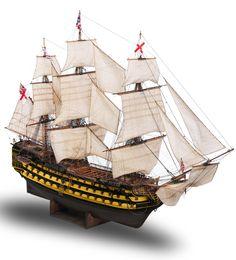 1:84 HMS Victory scale model ship
