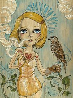 Sandi Calistro's Margot Tenenbaum (to hang in a baby girl's room or guest room or guest bathroom)