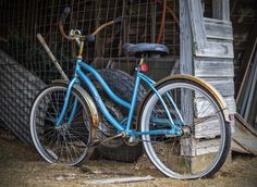 https://flic.kr/p/xWGT2E | Once Ridden | Old bicycle found in shed at Fort Reno, Oklahoma.