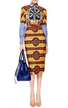 Barbara Printed Cotton Dress by Stella Jean - Moda Operandi