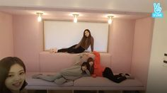 Blackpink House Pink Couch Jisoo Jennie Rose Lisa