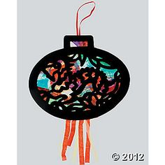 Graphic paper lantern craft for Chinese New Year.