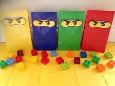Inspirado en LEGO Ninjago bolsos de fiesta por MyPartyBox en Etsy
