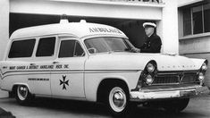 Superintendent Col Marks pictured at Mount Gambier Ambulance Station in Old Trucks, Fire Trucks, Plymouth Cars, Australian Cars, Emergency Vehicles, Fire Engine, Car Manufacturers, Police Cars, Ambulance