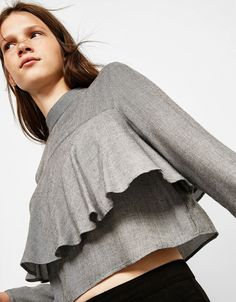 Bershka Turkey - Checked double layered blouse