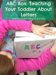 ABC Box: Teaching Your Toddler About Letters! Such a fun, simple way for your kids to learn about letters!